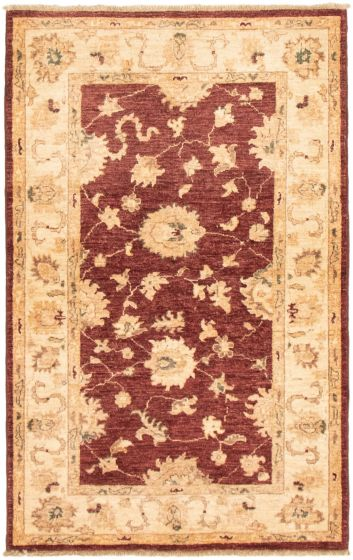 Bordered  Traditional Red Area rug 3x5 Afghan Hand-knotted 292961