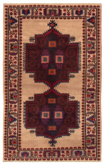 Bordered  Tribal Yellow Area rug 3x5 Afghan Hand-knotted 357421