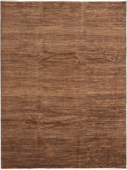 Transitional Brown Area rug 9x12 Afghan Hand-knotted 280357