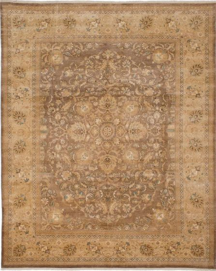 Floral  Traditional Brown Area rug 6x9 Pakistani Hand-knotted 207596