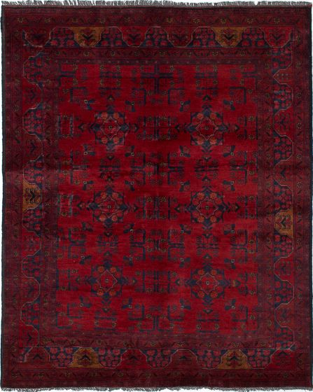 Traditional  Tribal Red Area rug 4x6 Afghan Hand-knotted 236215