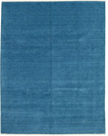 Gabbeh  Tribal Blue Area rug 6x9 Indian Hand-knotted 331244