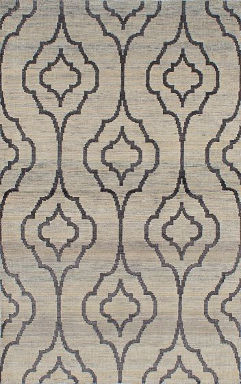 Transitional Grey Area rug 5x8 Indian Hand-knotted 222029