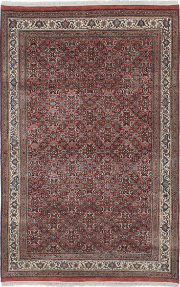 Traditional Brown Area rug 3x5 Indian Hand-knotted 228062
