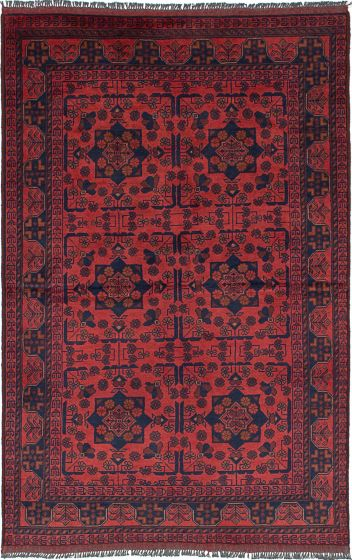 Traditional  Tribal Brown Area rug 3x5 Afghan Hand-knotted 234597