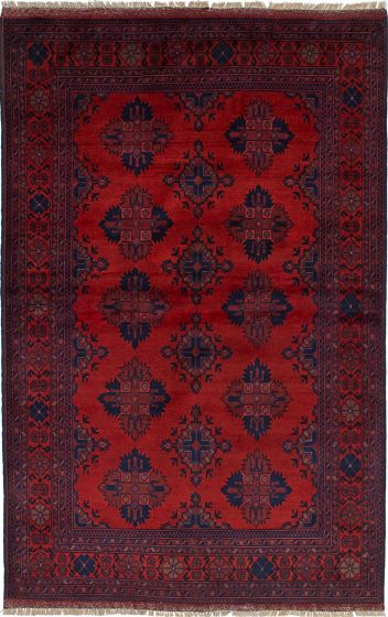 Traditional  Tribal Red Area rug 3x5 Afghan Hand-knotted 234600