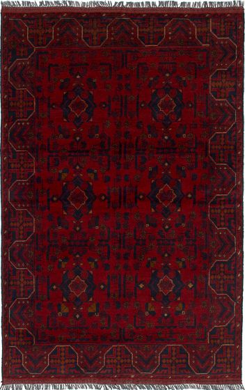 Traditional  Tribal Red Area rug 3x5 Afghan Hand-knotted 235661