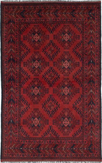 Traditional  Tribal Brown Area rug 3x5 Afghan Hand-knotted 235696
