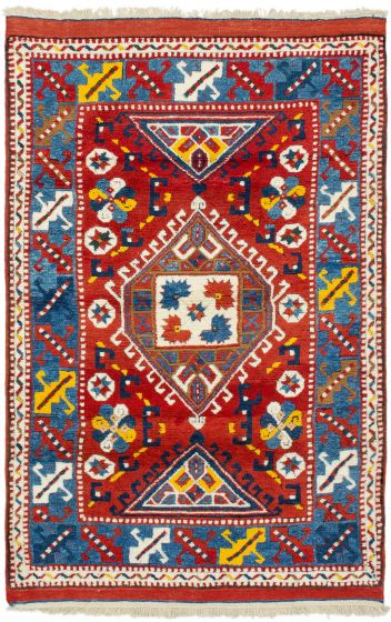 Bordered  Traditional Brown Area rug 3x5 Turkish Hand-knotted 293872