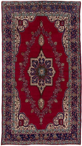 Bordered  Vintage Red Area rug Unique Turkish Hand-knotted 279840