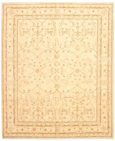 Bordered  Traditional Yellow Area rug 6x9 Afghan Hand-knotted 330575