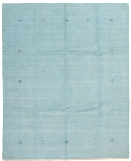 Gabbeh  Tribal Blue Area rug 6x9 Indian Hand-knotted 331224