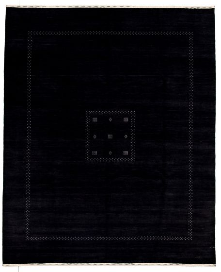 Gabbeh  Tribal Black Area rug 6x9 Indian Hand-knotted 331253
