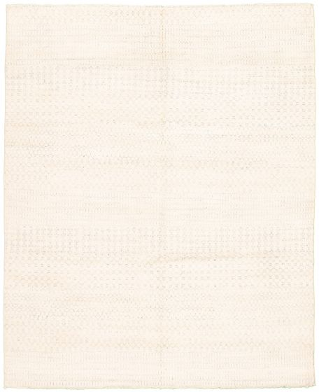 Casual  Transitional Ivory Area rug 6x9 Indian Hand-knotted 331902