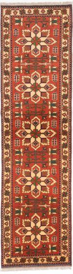 Tribal Brown Runner rug 10-ft-runner Afghan Hand-knotted 202950