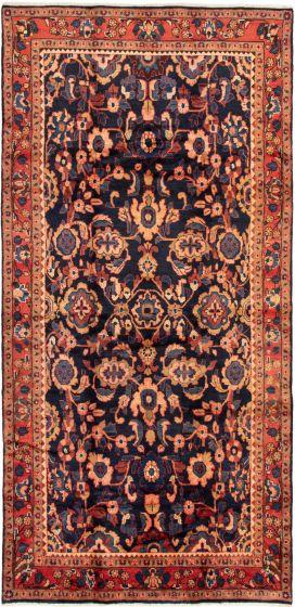 Blue rug runner