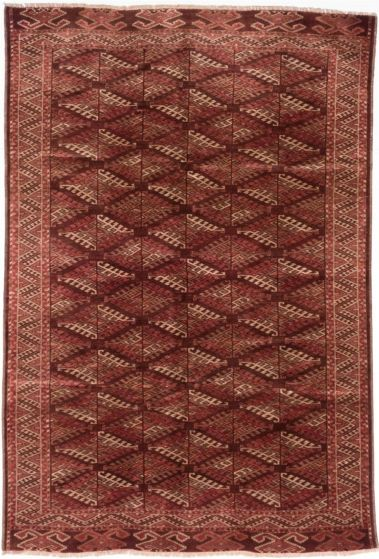 Traditional Brown Area rug 6x9 Russia Hand-knotted 203426