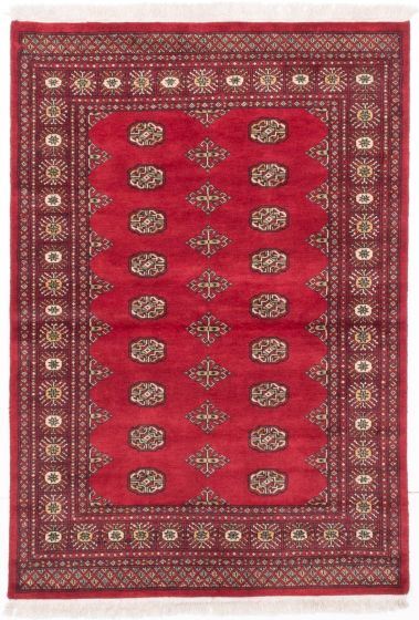 Traditional Red Area rug 3x5 Pakistani Hand-knotted 204928