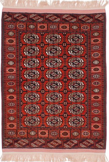Traditional Brown Area rug 3x5 Russia Hand-knotted 214663