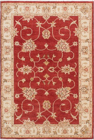 Traditional Red Area rug 3x5 Indian Hand-knotted 223954