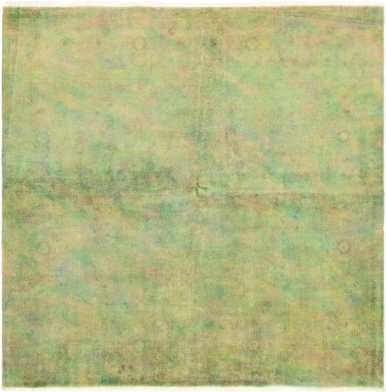 Casual  Transitional Green Area rug Square Turkish Hand-knotted 292840