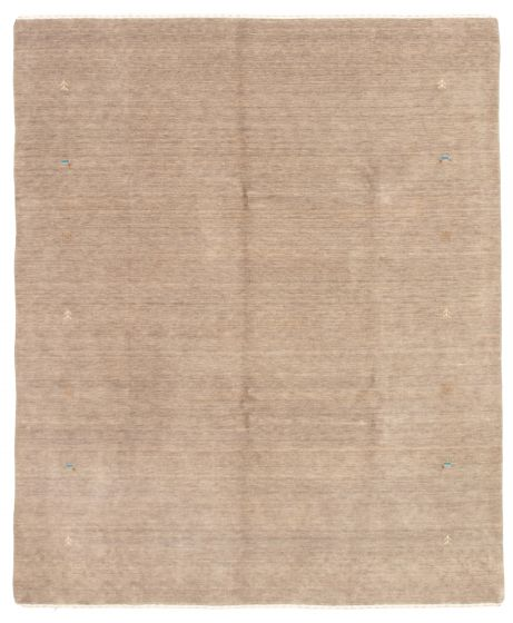 Gabbeh  Tribal Grey Area rug 6x9 Indian Hand-knotted 331190
