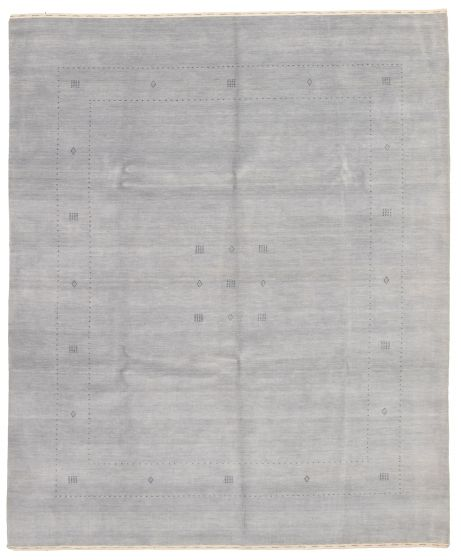 Gabbeh  Tribal Grey Area rug 6x9 Indian Hand-knotted 331213
