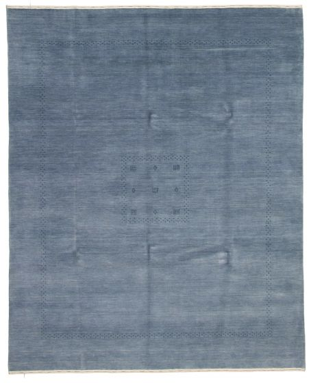 Gabbeh  Tribal Blue Area rug 6x9 Indian Hand-knotted 331229