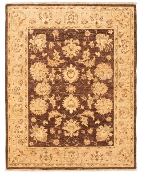 Bordered  Traditional Brown Area rug 3x5 Afghan Hand-knotted 331318