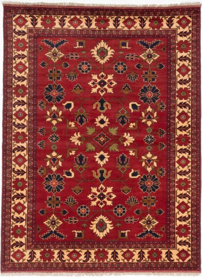 Traditional Brown Area rug 6x9 Afghan Hand-knotted 203165