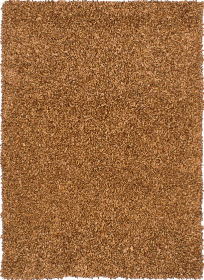 Plush & Shags Brown Area rug 4x6 Indian Hand Tufted 213484