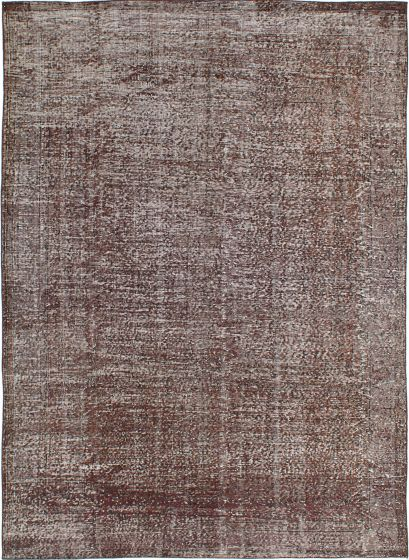 Transitional Brown Area rug 6x9 Turkish Hand-knotted 230306