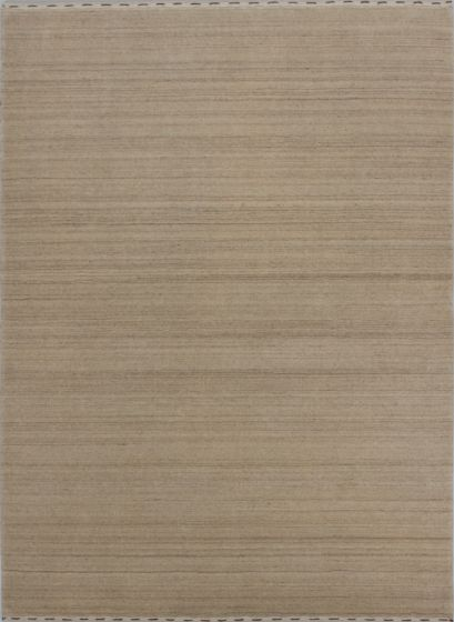 Contemporary  Solid Ivory Area rug 4x6 Indian Hand-knotted 279659