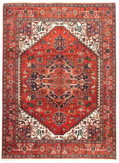 Bordered  Traditional Brown Area rug 9x12 Indian Hand-knotted 331263