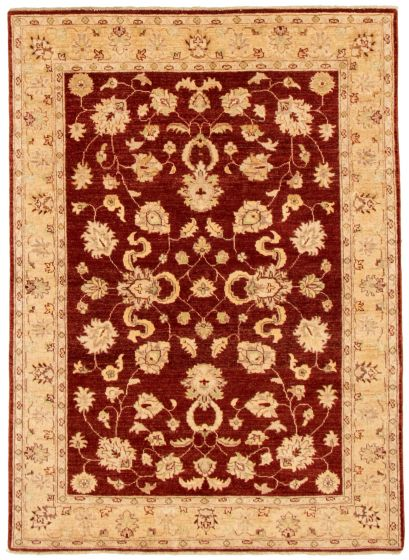 Bordered  Traditional Red Area rug 4x6 Afghan Hand-knotted 331520