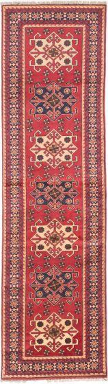 Tribal Red Runner rug 10-ft-runner Afghan Hand-knotted 203024