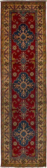 Bohemian  Geometric Red Runner rug 10-ft-runner Afghan Hand-knotted 271197