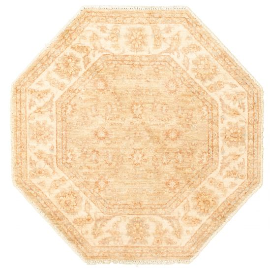 Bordered  Traditional Yellow Area rug 3x5 Afghan Hand-knotted 331490