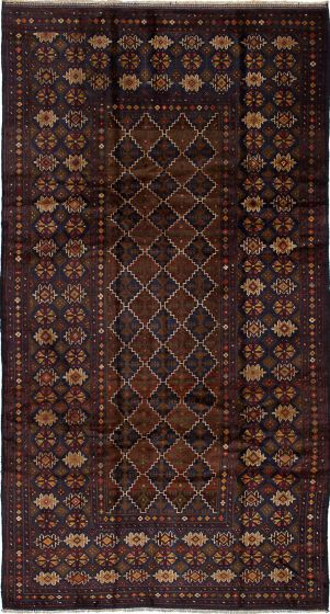 Traditional  Tribal Blue Area rug 5x8 Afghan Hand-knotted 226604