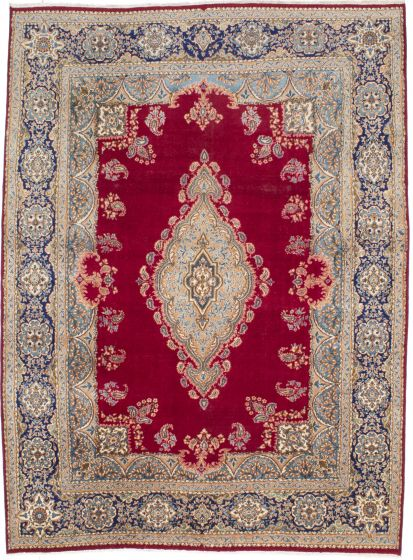 Traditional Red Area rug 8x10 Persian Hand-knotted 206165