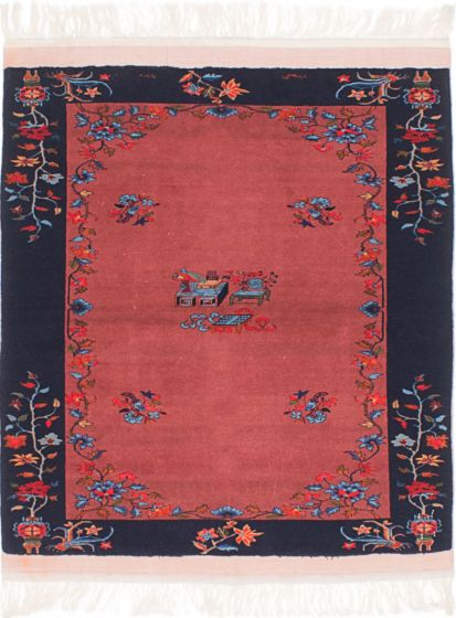 Traditional Brown Area rug 3x5 Afghan Hand-knotted 214626