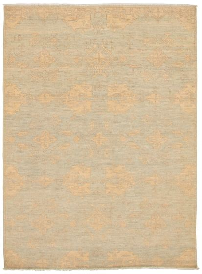 Transitional Blue Area rug 5x8 Pakistani Hand-knotted 339026