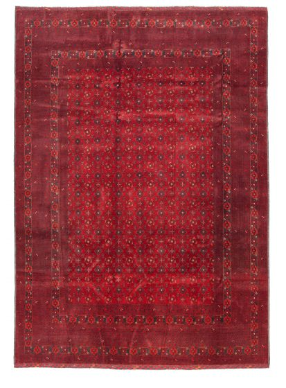 Bordered  Tribal Red Area rug 5x8 Afghan Hand-knotted 342268