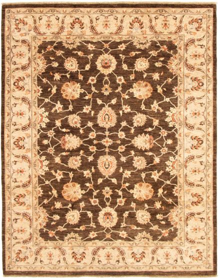 Traditional Brown Area rug 6x9 Afghan Hand-knotted 164693