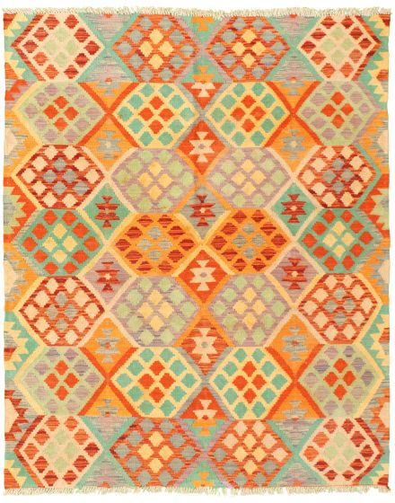Flat-weaves & Kilims  Geometric Orange