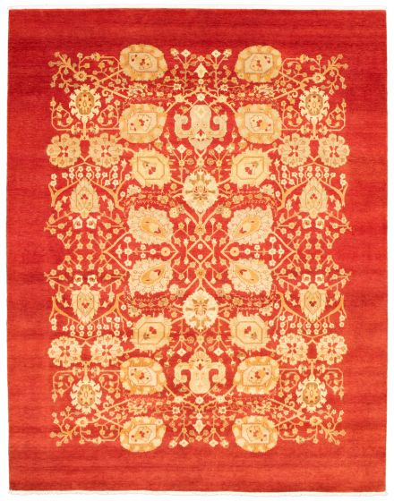 Floral  Transitional Red Area rug 12x15 Pakistani Hand-knotted 341552