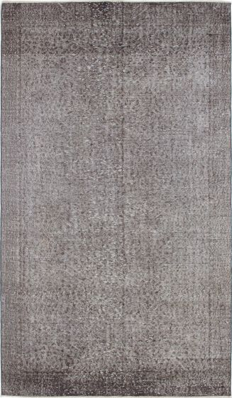 Bohemian  Transitional Grey Area rug 5x8 Turkish Hand-knotted 231163