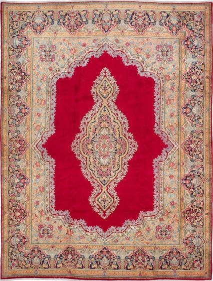 Traditional Red Area rug 9x12 Persian Hand-knotted 211010