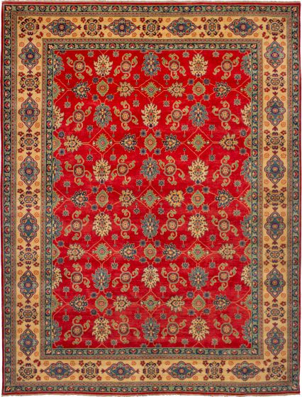 Bohemian  Traditional Red Area rug 9x12 Afghan Hand-knotted 272402