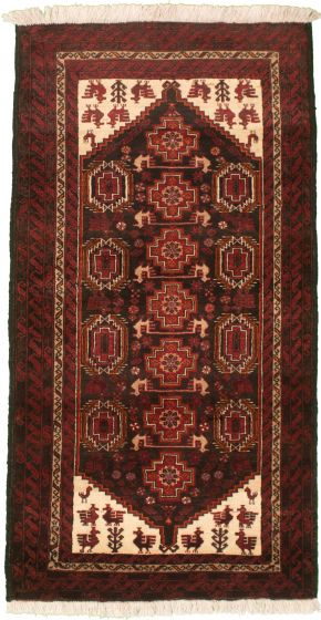 Bordered  Tribal Red Area rug Unique Afghan Hand-knotted 334950